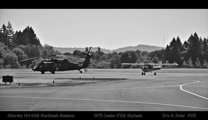 Sikorsky HH-60M Blackhawk Medevac. 1975 Cessna 172M Skyhawk