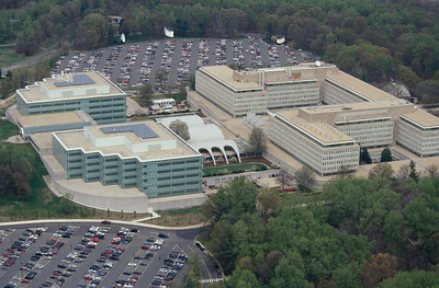 May 2001_Aerial view of CIA Headquarters Central Intelligence Agency Headquarters located in McLean, VA. (C) 2001 Greg E. Mathieson / MAI
