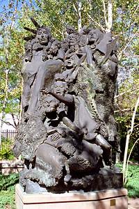 """Native American Bronze"", Buffalo Bill Historical Center, Cody, Wyoming"