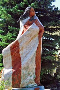 """""""Sacagawea"""" (Lemhi Shoshone woman that helped Lewis & Clark Expedition), Buffalo Bill Historical Center, Cody, Wyoming"""