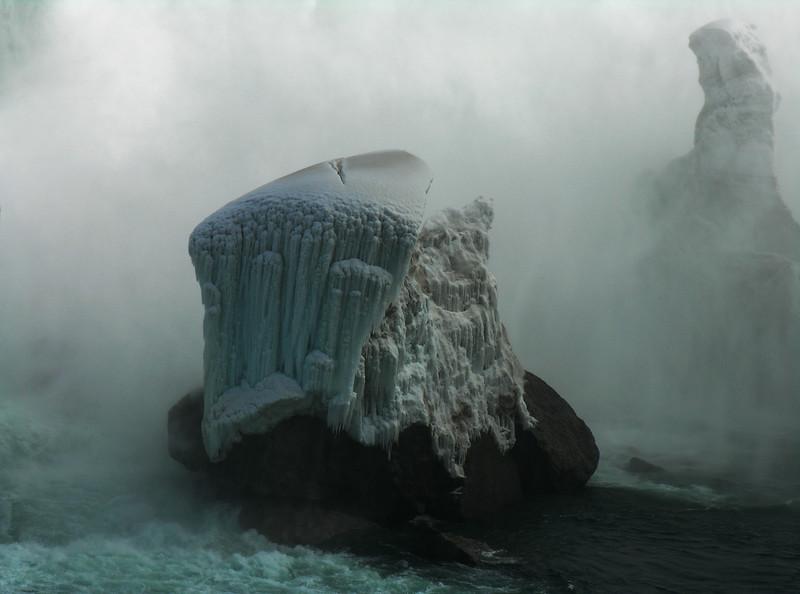Niagara Falls Ice on a Stone
