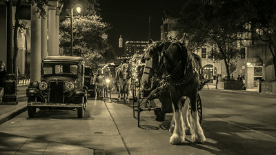carriages on 6th St., Austin