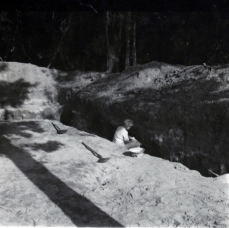 Trench in Clay Mound Brown's Landing  S.C.