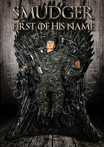 Smudger on Iron Throne-100