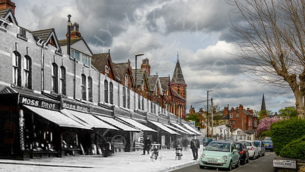 Brudenell Road old and new merge