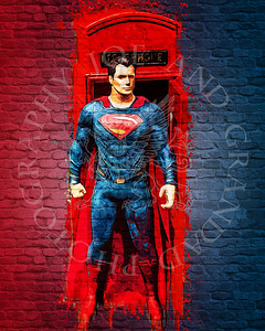 Superman and telephone box after SP and Acrylic