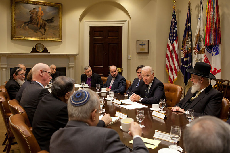 Vice President Joe Biden meets with the Council of Religious Institutions of the Holy Land in the Roosevelt Room of the White House, February 28, 2012.  (Official White House Photo by David Lienemann)