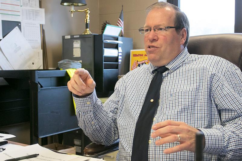 Leominster's Center For Technical Education Innovation's (CTEi) interim Principal Dan Bachant talks about his new position Tuesday, Oct. 8, 2019. SENTINEL & ENTERPRISE/JOHN LOVE