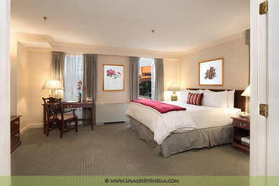 Bedroom Suite at Hotel Monticello - Georgetown, Washington DC, Interior Architecture Photography