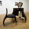 "Piece called Vanity by Liz Shepherd in the new show ""Interior Effects Furniture in Contemporary Art"" at the Fitchburg Art Museum. SENTINEL & ENTERPRISE/JOHN LOVE"