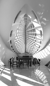 The Calatrava addition  to the Milwaukee Art Museum. November 2010