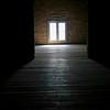 Bright light thorugh an attic window