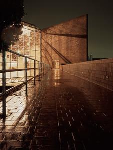 The University of Rochester on a rainy night- Rochester, NY