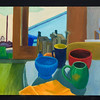 "Pool and still life, 20x24"", oil on panel, 2006"