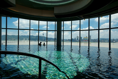 Swimming pool at the Altira Hotel in Macau.