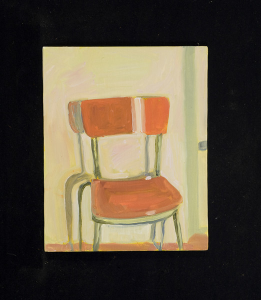 "chair, Italy, 2007, 8x10"", oil on canvas board"