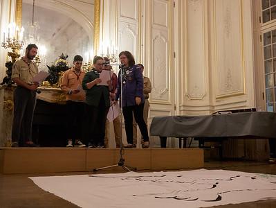 Lecture par une représentante des Scouts Musulmans de France