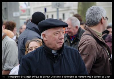 Monseigneur Boulanger, évêque de Bayeux-Lisieux qui a concélébré ce moment avec le pasteur de Caen
