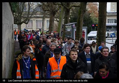 Les Caennais étaient nombreux pour suivre la lumière dans les rues de la ville