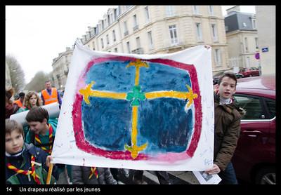 Un drapeau réalisé par les jeunes