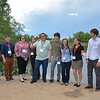 Group photos of Geo-Launchpad and USIP interns outside at Twin Lakes during orientation week. Left to right: Dan Zietlow, Alex Olsen-Mikitowicz, Kelly Billings, Laura Fakhrai, Eric Sheley, Bradley Norman, Meredith Kraner, Sarah Moore, Bobby Nash. Boulder, CO. June 6, 2016. (Photo/Kelsey Russo-Nixon, UNAVCO)