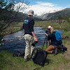 2017 USIP geoscience video production interns Christopher Edmunds and Ellie Ellis document the UNAVCO intern field trip to Rocky Mountain National Park.  June 16, 2017.  Estes Park, Colorado.  (Photo/Beth Bartel, UNAVCO)
