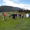 2017 interns and Park Service staff play a game about Earth forces and processes.  Rocky Mountain National Park, Estes Park, Colorado.  June 16, 2017.  (Photo/Aisha Morris, UNAVCO)