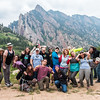 GeoLaunchpad and RESESS interns pose with UNAVCO staff and graduate students from CU Boulder while on a field trip. (Photo/Christopher Chase Edmunds, UNAVCO)