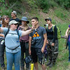 CU Boulder graduate student Megan Brown leads a discussion on local geology for 2018 RESESS and GeoLaunchpad interns during the CU Mountain Research Station trip.  June 30, 2018.  Boulder, Colorado.  (Photo/Aisha Morris, UNAVCO)