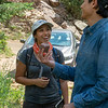 2018 RESESS intern Adelicia Johnson and CU Boulder graduate student Enrique Chon on the CU Mountain Research Station trip.  June 30, 2018.  Boulder, Colorado.  (Photo/Aisha Morris, UNAVCO)