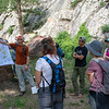 CU Boulder geological sciences professor Kevin Mahan discusses the local Boulder geology with 2018 RESESS and GeoLaunchpad interns on an overnight field trip to the CU Mountain Research Station.  June 30, 2018.  Boulder, Colorado.  (Photo/Aisha Morris, UNAVCO)