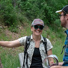 CU Boulder graduate student Emily Fairfax chats with 2018 RESESS intern Jordan Wachholtz during the CU Mountain Research Station trip.  June 30, 2018.  Boulder, Colorado.  (Photo/Aisha Morris, UNAVCO)