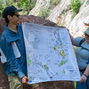 CU Boulder graduate students Megan Brown and Enrique Chon help lead a discussion on local Boulder geology during the CU Mountain Research Station trip.  June 30, 2018.  Boulder, Colorado.  (Photo/Aisha Morris, UNAVCO)
