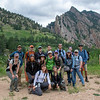 2018 RESESS and GeoLaunchpad interns with CU Boulder faculty and graduate students during a hike on the CU Mountain Research Station trip.  June 30, 2018.  Boulder, Colorado.  (Photo/Aisha Morris, UNAVCO)
