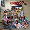 2018 USIP, GeoLaunchpad, and RESESS interns show off their tie-dye UNAVCO shirts on the last day of the summer.  August 3, 2018.  Boulder, Colorado.  (Photo/Daniel Zietlow, UNAVCO)