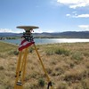 GPS base station on the hill at Boulder Reservoir looking SW.
