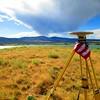 GPS base station standing proud at Boulder Reservoir.