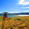 GPS base station proud to be collecting data on American soil at Boulder Reservoir.