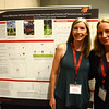 Geo-Launchpad intern, Laura Fakhrai, poses with her faculty mentor, Elizabeth Tulanoswki, in front of her poster at the end-of-summer poster session at UCAR. Boulder, CO. July 28, 2016. (Photo/Beth Bartel, UNAVCO)