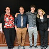 Group photos of Geo-Launchpad and RESESS interns during their end-of-summer poster session. Left to right: Kelly Billings, Alex Olsen-Mikitowicz, Bradley Norman, Laura Fakhrai. UCAR Center Green Building, Boulder, CO. July 28, 2016. (Photo/Aisha Morris, UNAVCO)