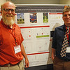 Geo-Launchpad intern, Alex Olsen-Mikitowicz, poses with his faculty mentor, Patrick Shabram, in front of his poster at the end-of-summer poster session at UCAR. Boulder, CO. July 28, 2016. (Photos/Beth Bartel, UNAVCO)