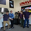 Group photos of Geo-Launchpad interns inside UNAVCO during orientation week. Left to right: Alex Olsen-Mikitowicz, Kelly Billings, Bradley Norman, Laura Fakhrai, Eric Sheley. Boulder, CO. June 6, 2016. (Photo/Kelsey Russo-Nixon, UNAVCO)