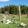 UC Boulder graduate student Peter Shellito at the weather station, Mountain Research Station in Nederland, CO.