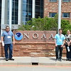 Geo-Launchpad interns tour the NOAA facility with the RECCS interns. Left to right: Bradley Norman, Eric Sheley, Alex Olsen-Mikitowicz, Laura Fakhrai, Kelly Billings. Boulder, CO. June 8, 2016. (Photo/Aisha Morris, UNAVCO)