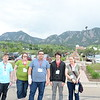 Geo-Launchpad interns tour the NOAA facility with the RECCS interns. Left to right: Alex Olsen-Mikitowicz, Kelly Billings, Eric Sheley, Bradley Norman, Laura Fakhrai. Boulder, CO. June 8, 2016. (Photo/Aisha Morris, UNAVCO)