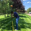 2018 USIP intern Tadesse Alemu works with a GPS system during the summer.  July 30, 2018.  Boulder, Colorado.  (Photo/Dylan Schmeelk, UNAVCO)