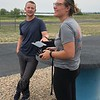 2018 USIP interns Samantha Eckes and Jon Bridgeman learn to fly a UAS with UNAVCO field engineers Keith Williams and Dylan Schmeelk.  August 1, 2018.  Boulder, Colorado.  (Photo/Dylan Schmeelk, UNAVCO)