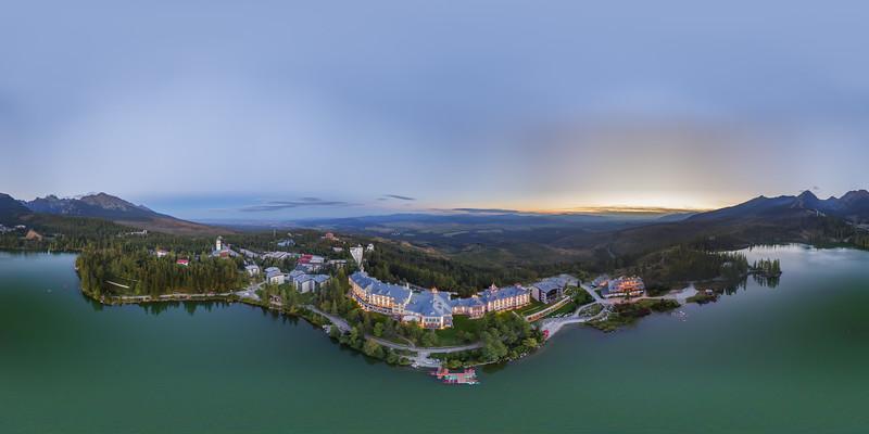 Aerial view Hotel Kempinski - Štrbské Pleso Slovakia