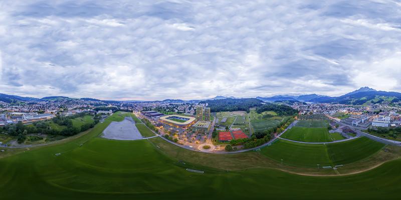 Aerial view Swisspor Arena Lucerne