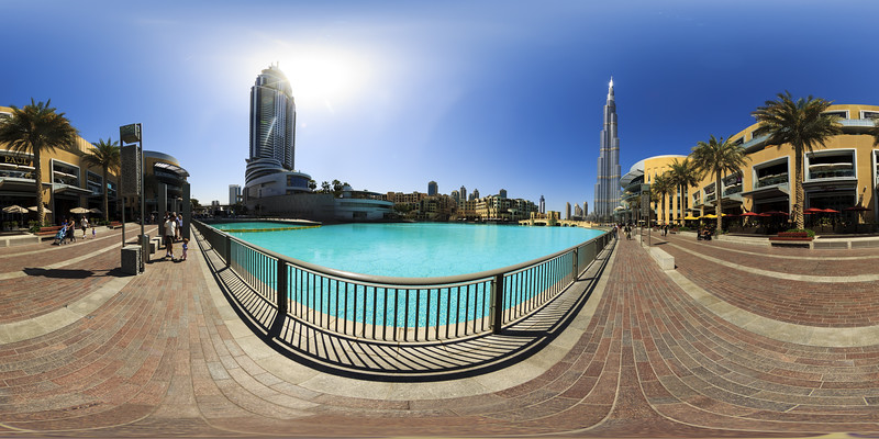 Dubai - Around Burj Khalifa during Daytime